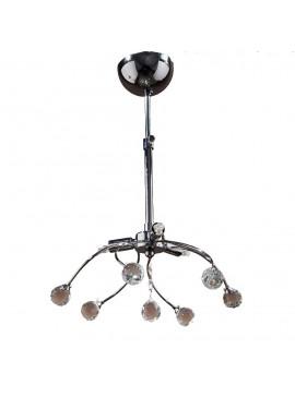 Κρεμαστό Φωτιστικό Φωτιστικό οροφής, Χρώμιο με Κρύσταλλα, 3 λάμπες τύπου G9 (Max 40 Watt, δεν περιλαμβάνονται), TOP-1510-3