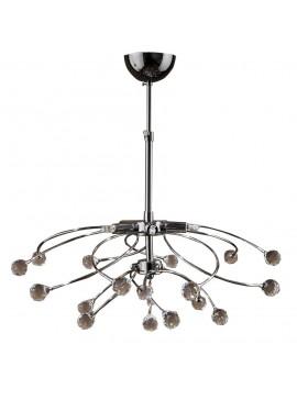 Κρεμαστό Φωτιστικό Φωτιστικό οροφής, Χρώμιο με Κρύσταλλα, 5 λάμπες τύπου G9 (Max 40 Watt, δεν περιλαμβάνονται), TOP-1510-5
