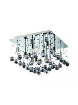Φωτιστικό οροφής κρεμαστό με κρύσταλλα με 9 λάμπες τύπου G9 50x50x38, Χρώμιο, TOP-1821-9