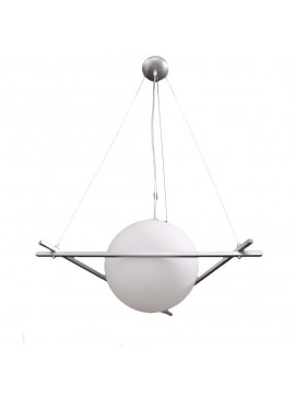 Κρεμαστό Φωτιστικό με 1 λάμπα Ε27, 40x40 εκ, Χρώμα Λευκό, TOP-33-1
