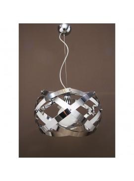 Κρεμαστό Φωτιστικό, μεταλλικό, Χρώμιο, 40x40, λάμπα τύπου E27 (Max 40 Watt, δεν περιλαμβάνεται) TOP-42-1