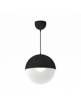 Φωτιστικό κρεμαστό μεταλλικό σε χρώμα Μαύρο Ματ, με λευκή μπάλα ,μονόφωτο,διάμετρος 20εκ. TOP-9005-1