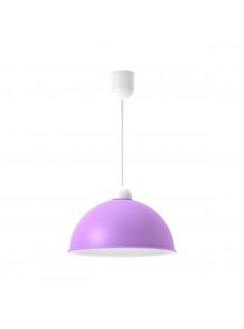 Φωτιστικό κρεμαστό,μεταλλικό, χρώμα Μωβ, διάμετρος 27 εκ.TOP-9028-1M