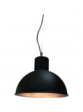 Φωτιστικό κρεμαστό 'Nova',μεταλλικό, χρώμα Μαύρο Ματ-Χαλκός, διάμετρος 38 εκ.TOP-9033-1
