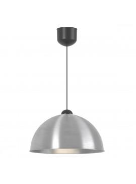 Κρεμαστό Φωτιστικό Μονόφωτο Ασημί Μεταλλικό Ε27 Φ33*80εκ TOP-9057-1