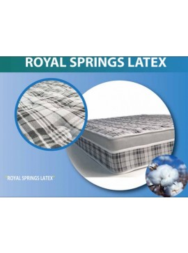 Achaia Strom ROYAL SPRINGS LATEX 2 σε 1 (Ορθοπεδικό-Ανατομικό) με Ανώστρωμα 170x200x29cm  ROYALSPRINGSLATEX170x200x29cm