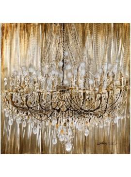 Πίνακας με φύλλο αλουμινίου, Πολυέλαιος, 100x100 εκ . W-140303B