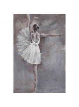 Πίνακας με ύφασμα, Μπαλαρίνα 3D, 100x150 εκ . W-150112B