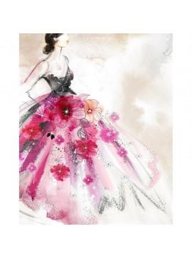 Πίνακας με STRASS, Φόρεμα με λουλούδια, 40x50 εκ . W-9750B