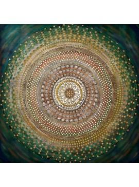 Πίνακας με τρούκς, Κύκλος, 90x90 εκ . W-9773A
